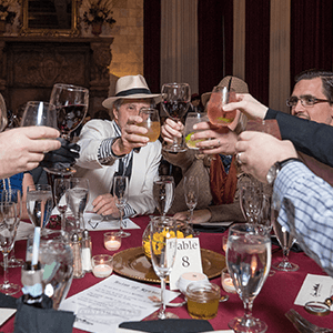 Billings Murder Mystery guests raise glasses